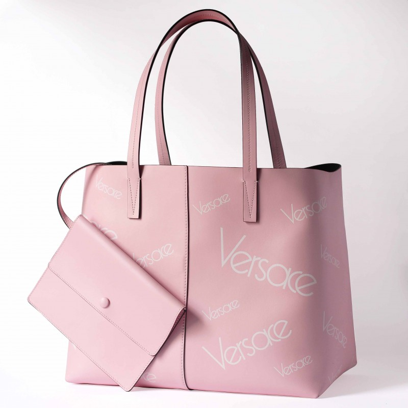 Versace Vintage Pink Leather Bag