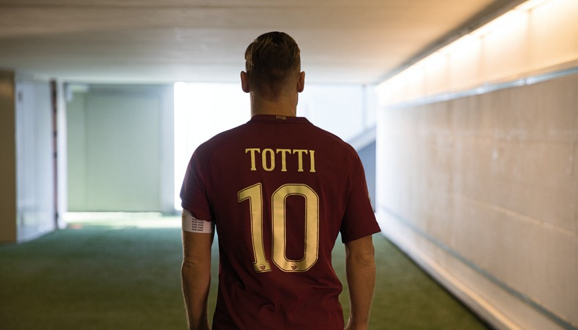 Totti Special Match Worn Shirt, Rome Derby 4/12/16 - Signed ...