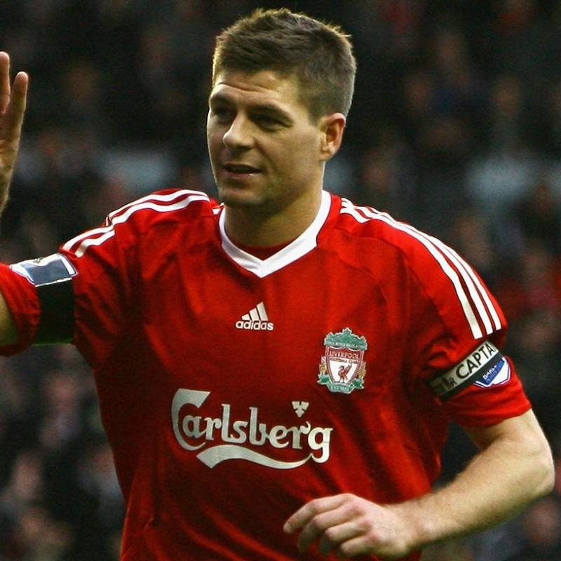 Gerrard's Official Liverpool Signed Shirt, 2009/10