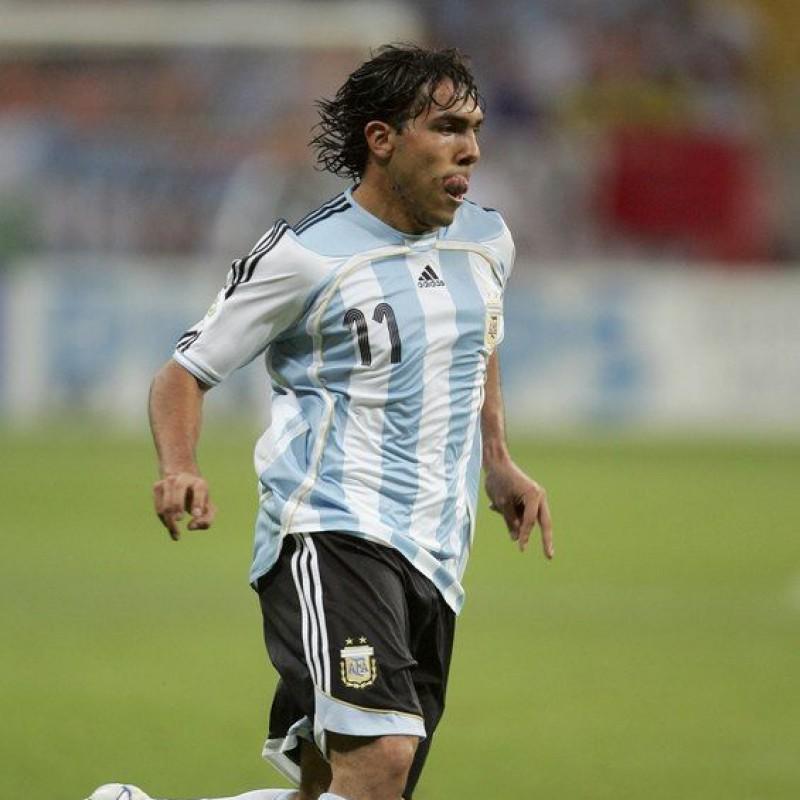 Tevez's Official Argentina  Signed Shirt, 2005