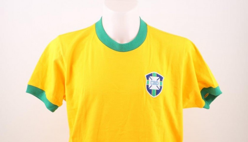 1970 Maglia AutografataWorld Charitystars Brasile Cup Pelè D29YWEHI