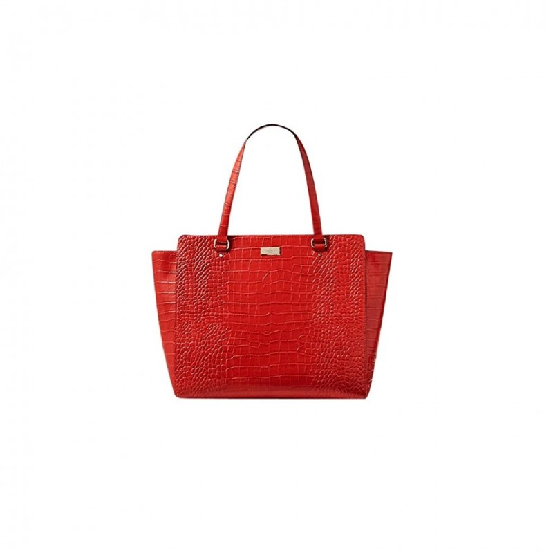 Kate Spade Large Red Croc Style Handbag