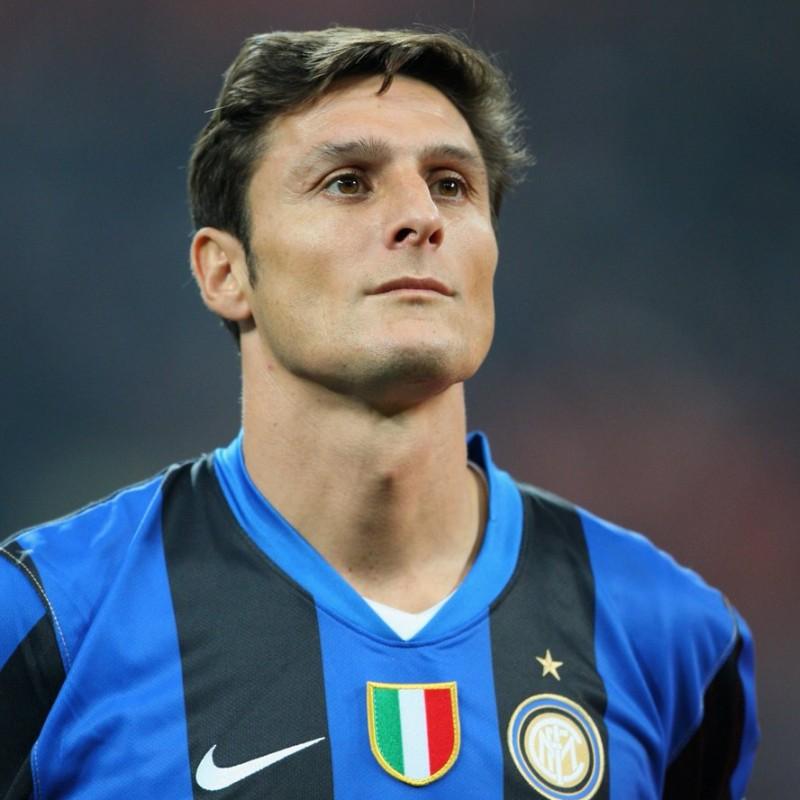 'Giacinto Facchetti' Framed Captain's Armband - Signed by Javier Zanetti
