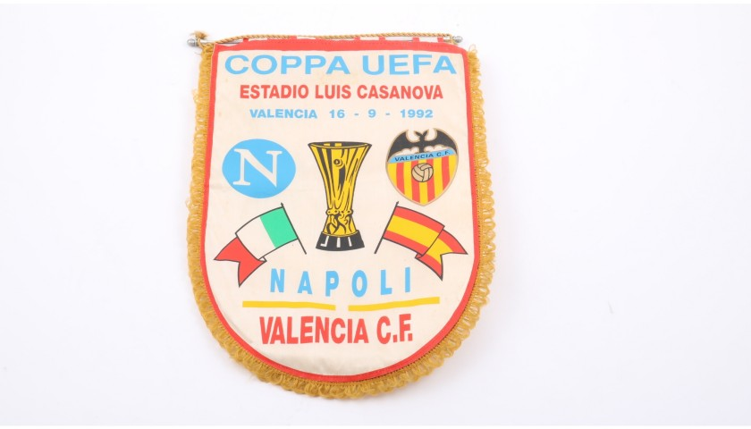 Official Valencia-Napoli Pennant, UEFA Cup 1992/93