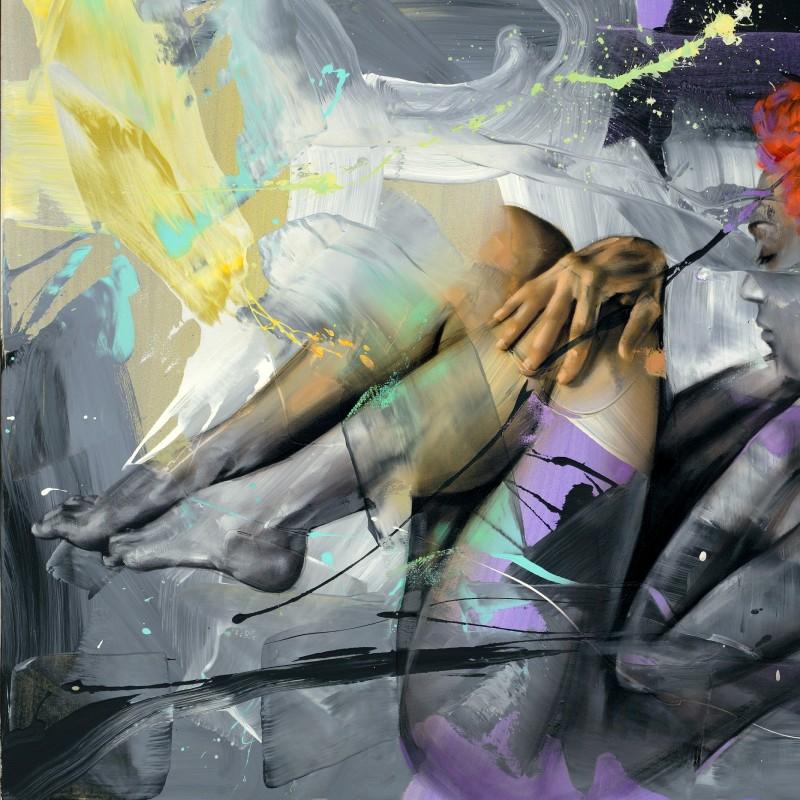 "Pier Toffoletti ""Body Splash 14-1215"" original graphic art on paper"