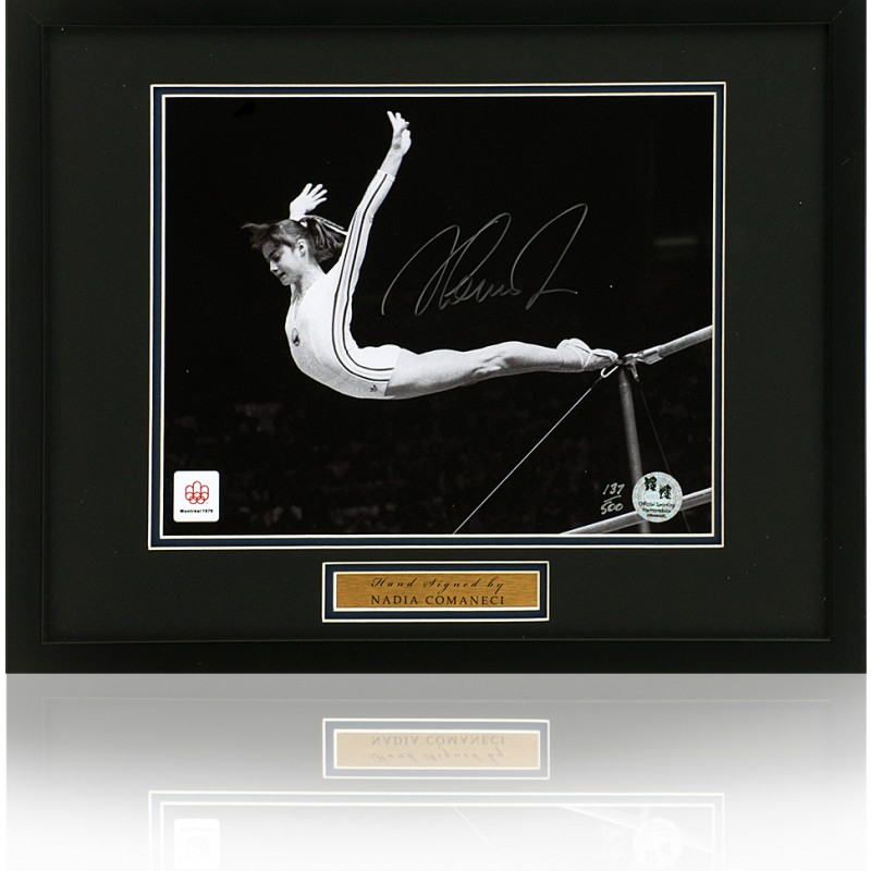 Nadia Comaneci Signed Olympic Games Photograph