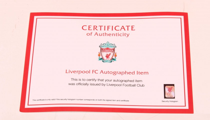 ba2029a9b Adam Lallana Worn and Signed Limited Edition  Seeing is Believing  16 17 Liverpool  FC shirt
