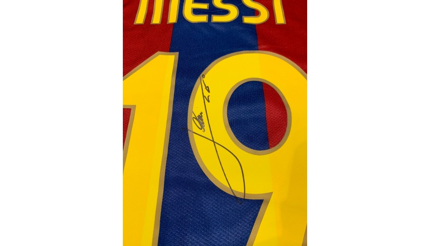 Messi's Barcelona Signed Match Shirt, 2007/08