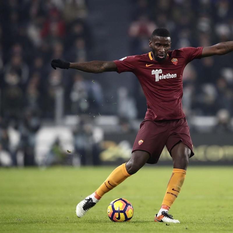 Rudiger Match Worn Shirt, Juventus-Roma 17/12/16 - Special Telethon Sponsor