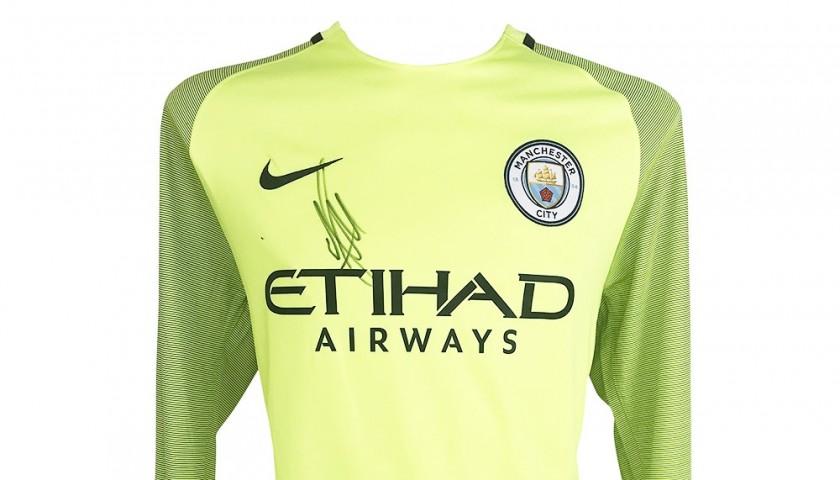 Ederson's Man City Goalkeeper Signed Shirt