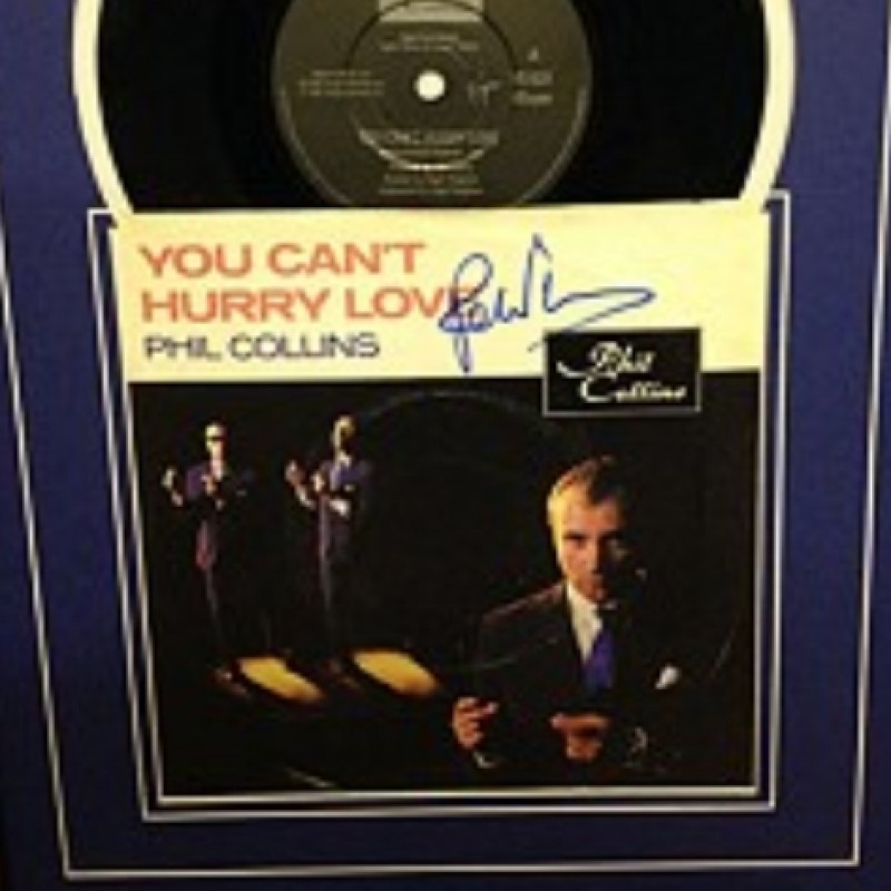 Phil Collins Signed Single Display