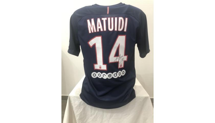 Matuidi's Official PSG Signed Shirt, 2016/17