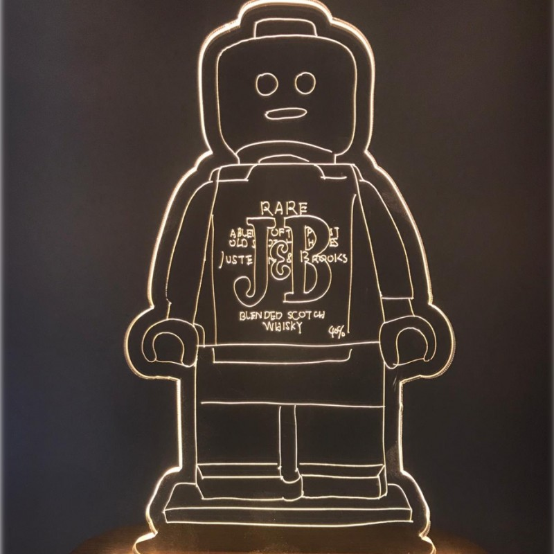 """""""Alter Ego Lamp J&B"""" - Sculpture by Alessandro Piano"""