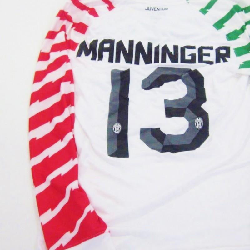 Manninger Juventus match issued/worn shirt, Serie A 2010/2011