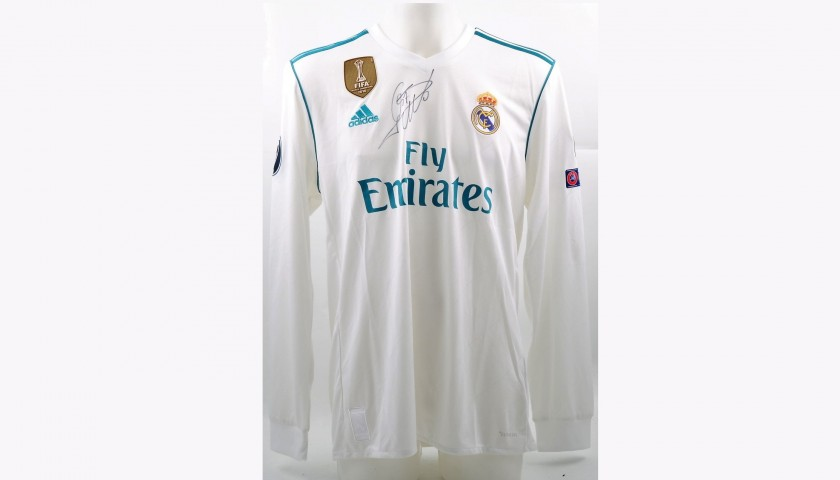 separation shoes 2b951 5283d Signed Official Ronaldo 2017/18 Real Madrid Shirt - CharityStars