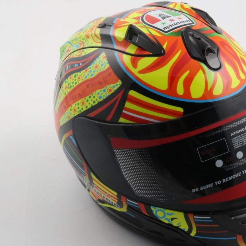Official Valentino Rossi helmet replica, personalized and signed