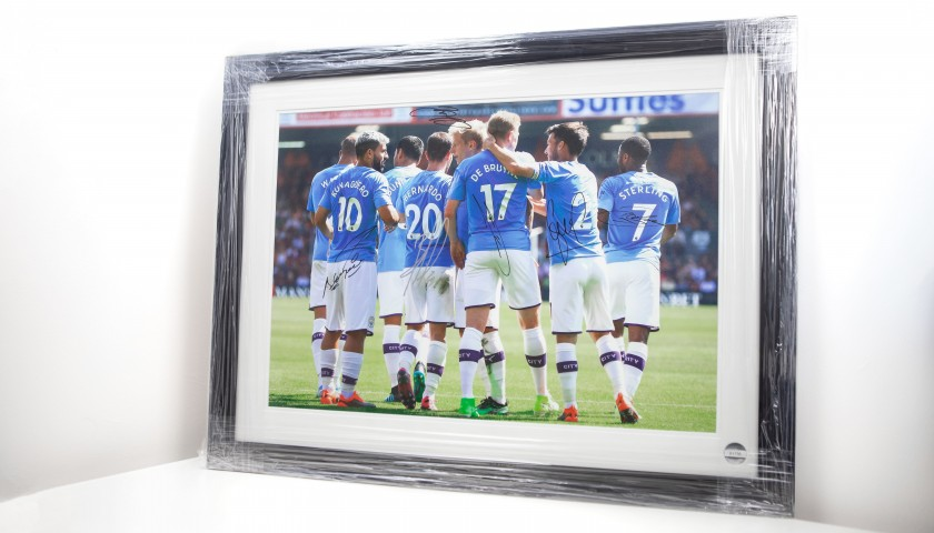 Signed and Framed Picture of Manchester City's First Team