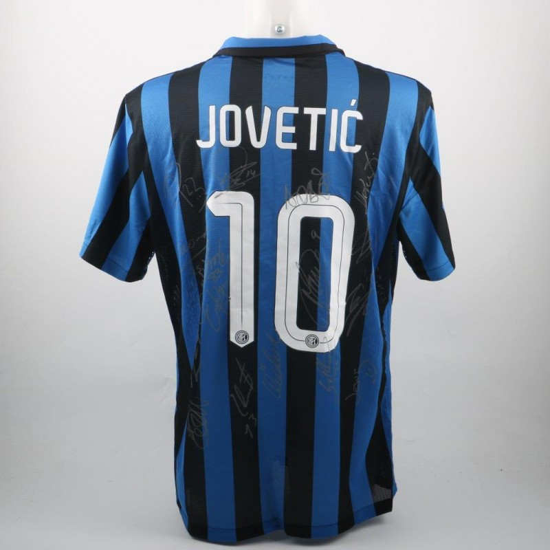 Official replica Jovetic Inter 15/16 shirt, signed by the players