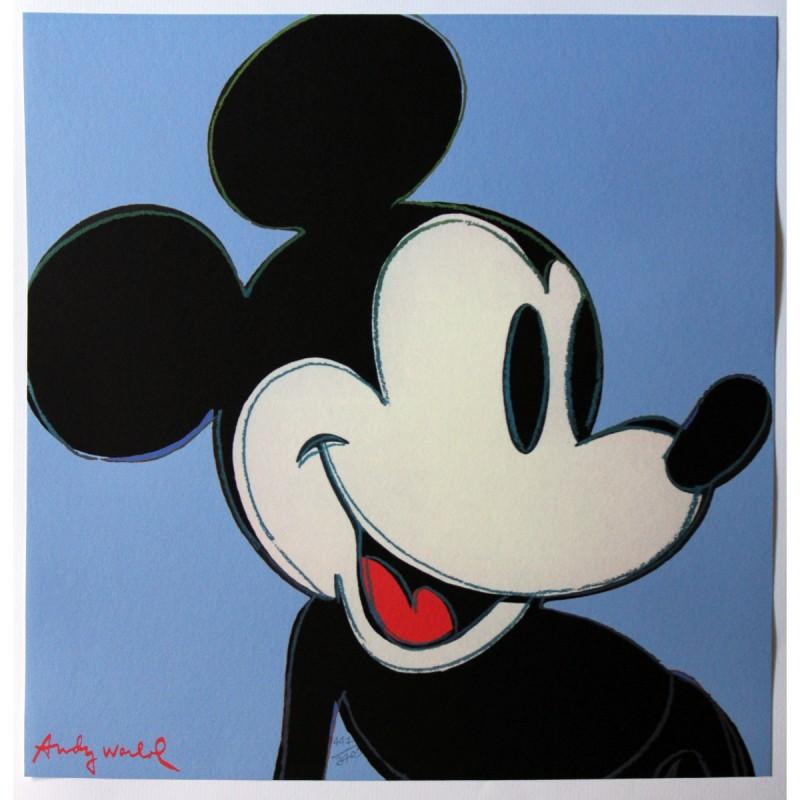 'Topolino - Mickey Mouse' - Litografia Offset di Andy Warhol