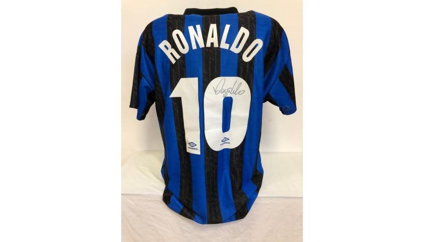 Ronaldo's Official Inter Signed Shirt, 1997/98