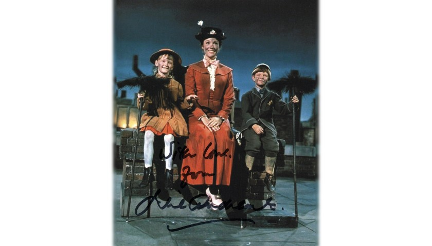 Photograph from Mary Poppins Signed by Julie Andrews