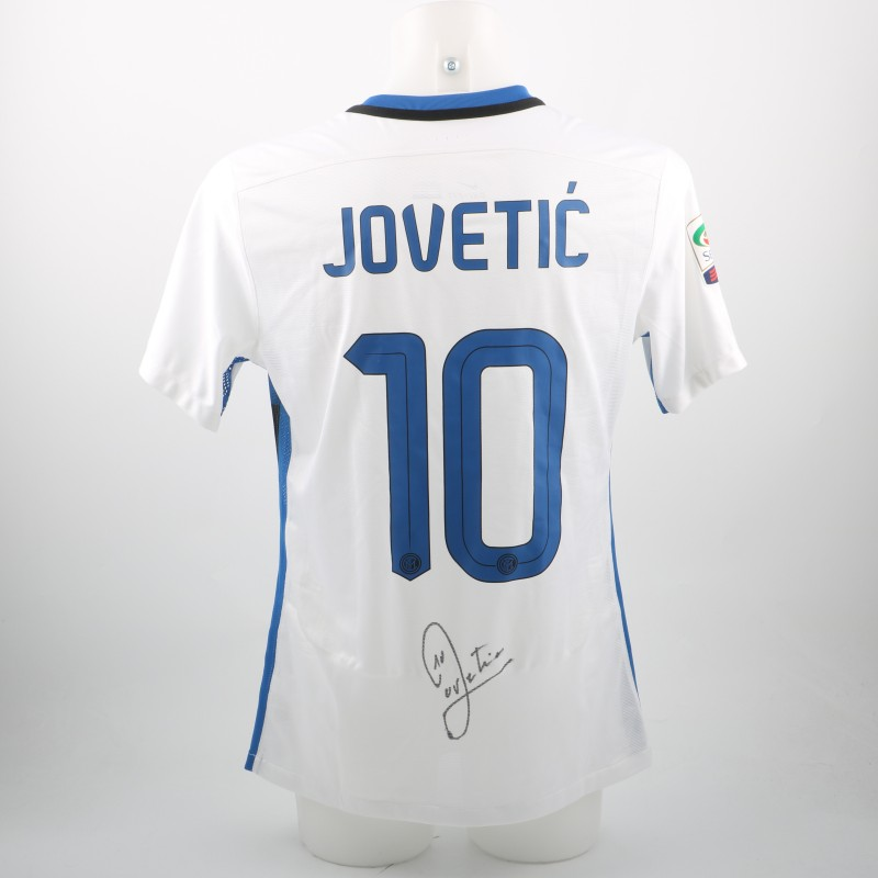 Jovetic Inter shirt, issued/worn Serie A 15/16 - signed