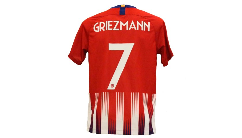 best service bc92a 5c92d Griezmann's Official Atletico Madrid Signed Shirt - CharityStars