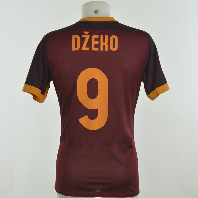 Authenticated Dzeko shirt worn during Roma 2-1 Juventus