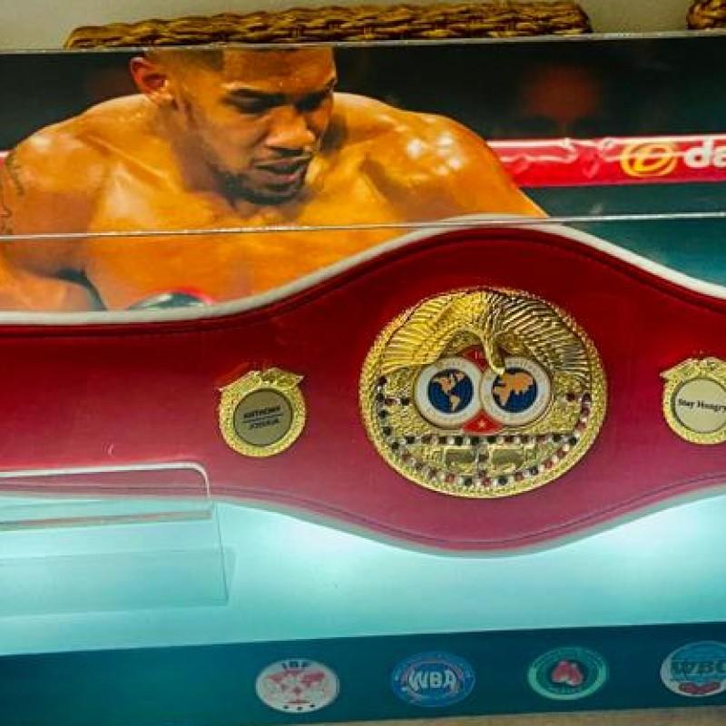 Anthony Joshua Signed IBF Red Boxing Mini Belt