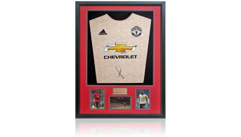 Paul Pogba Hand Signed Manchester Utd Gold Shirt