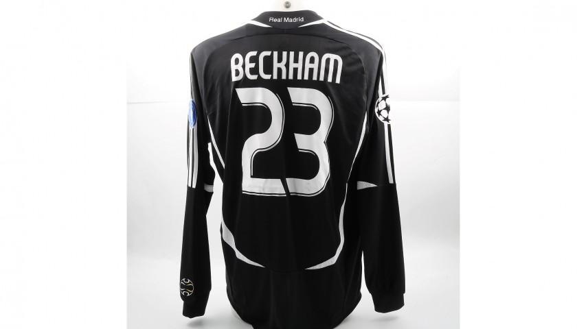 huge discount de590 332db Beckham's Match-Issued/Worn Real Madrid Shirt, 2006/07 UCL - CharityStars