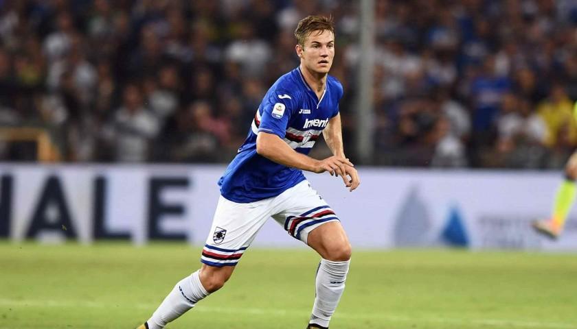 Andersen's Sampdoria Match-Issue Signed Shirt, 2018/19