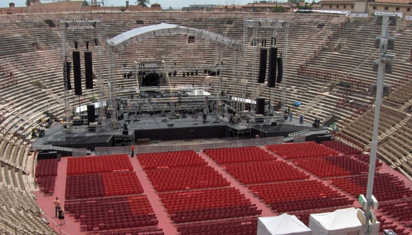 Attend Placido Domingo's concert in Verona as a real star