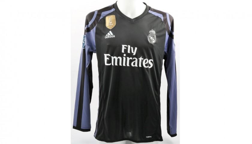 56cff03c120 Ronaldo s Real Madrid Match-Issue Worn UCL 2016 17 Shirt ...