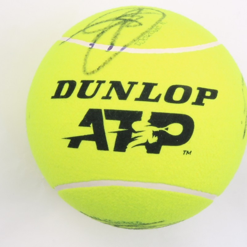 Maxi Tennis Ball Signed by the Internazionali BNL Champions 2019
