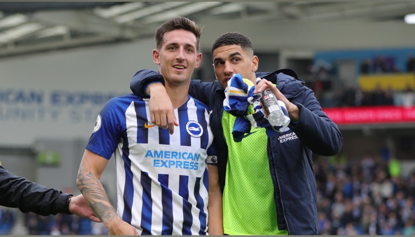 Lewis Dunk's Brighton & Hove Albion Match-Issued and Signed Shirt, 2019/20