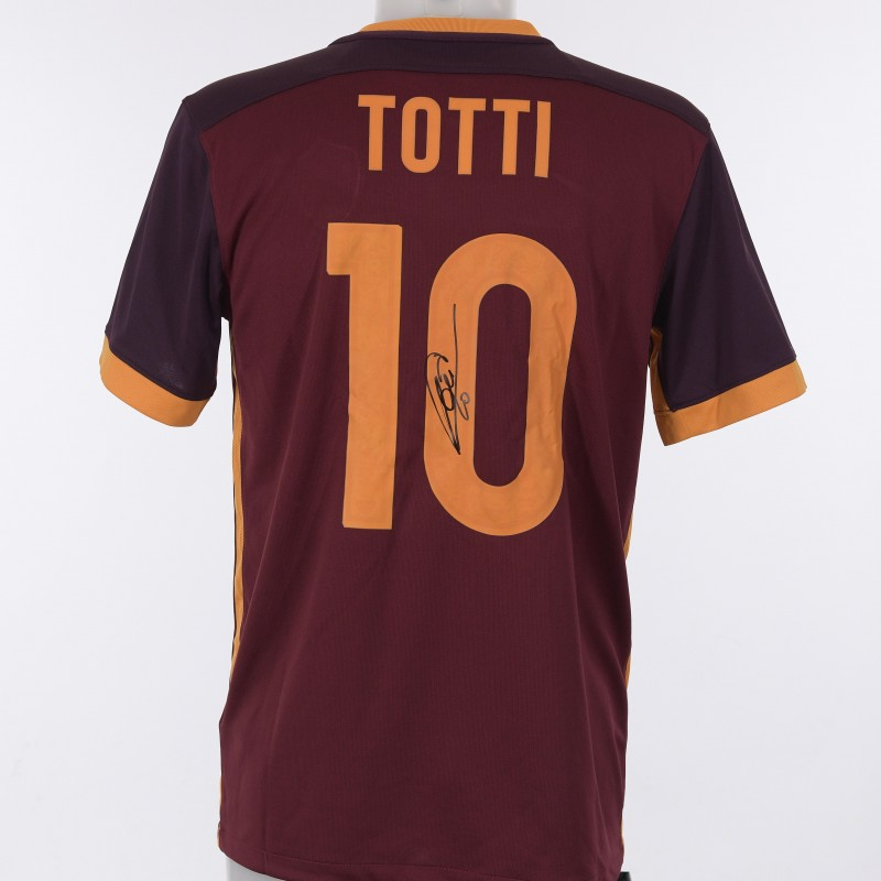 Francesco Totti's AS Roma Signed Shirt, 2015/2016