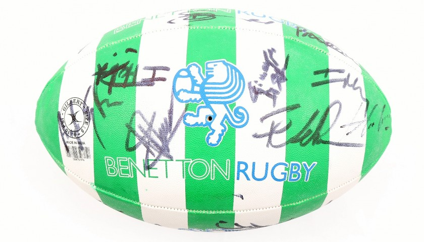 Official Benetton Treviso Rugby Ball - Signed by the Players