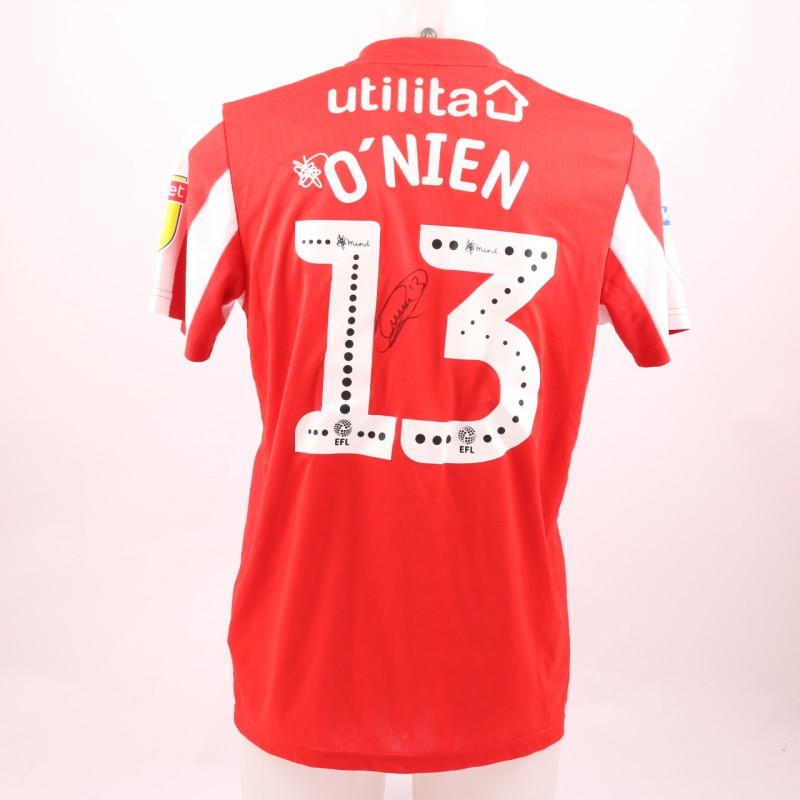 O'Nien's Sunderland AFC Worn and Signed Poppy Shirt
