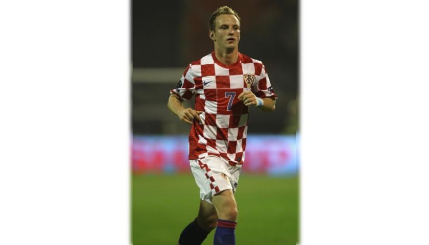 Rakitic's Croatia Match Shirt, Euro 2012 Qualifiers
