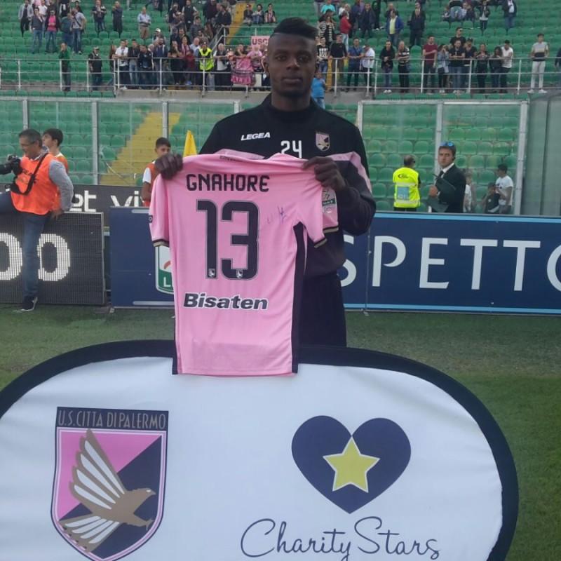 Gnahorè's Match-Worn and Signed Shirt from Palermo-Novara 2017/18