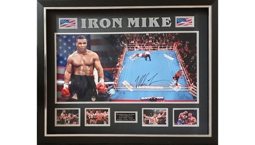 Mike Tyson Framed and Hand-Signed Photo - Limited Edition