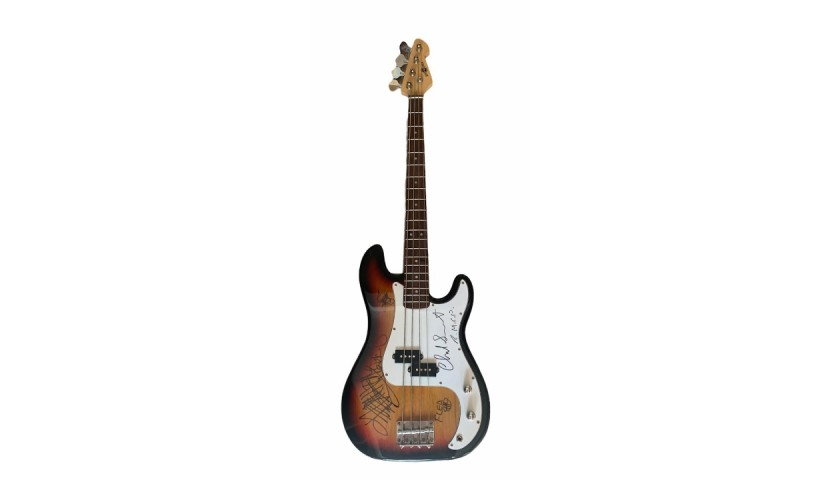 Red Hot Chili Peppers Signed Electric Bass Guitar