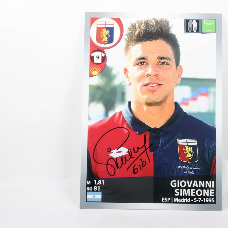 Giovanni Simeone, Limited Edition Box and Signed Panini Maxi Sticker