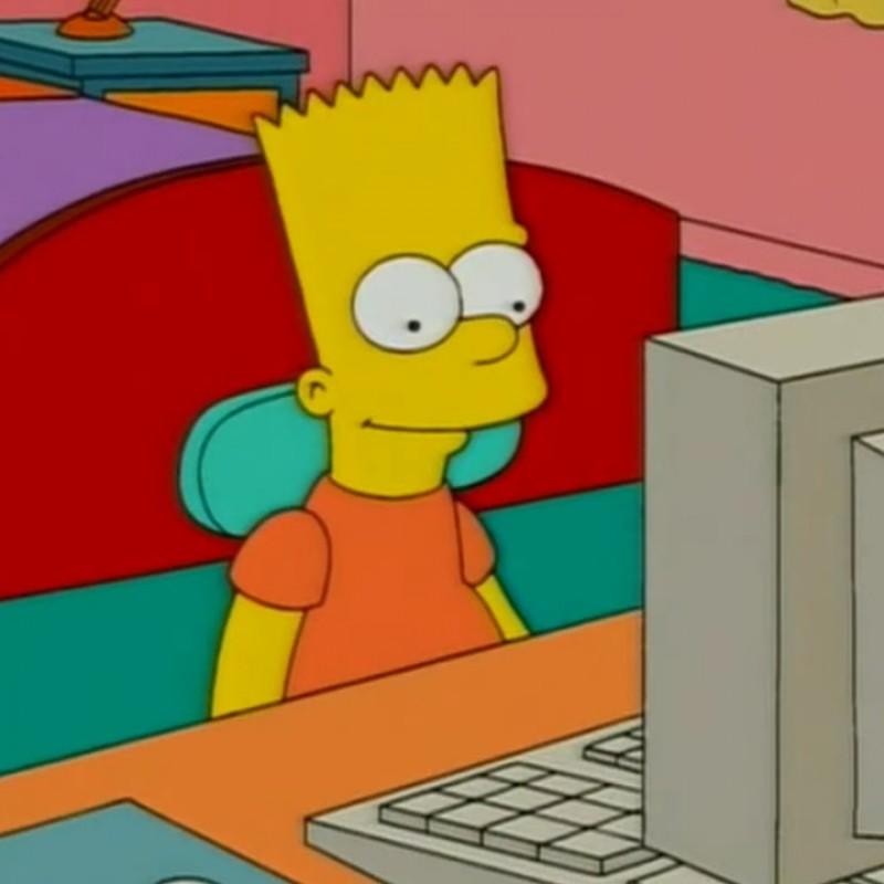 The Simpsons - Original Drawing of Bart Simpson