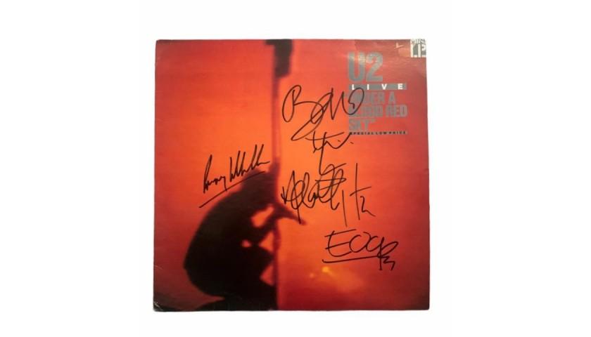 U2 Signed Under A Blood Red Sky Vinyl LP