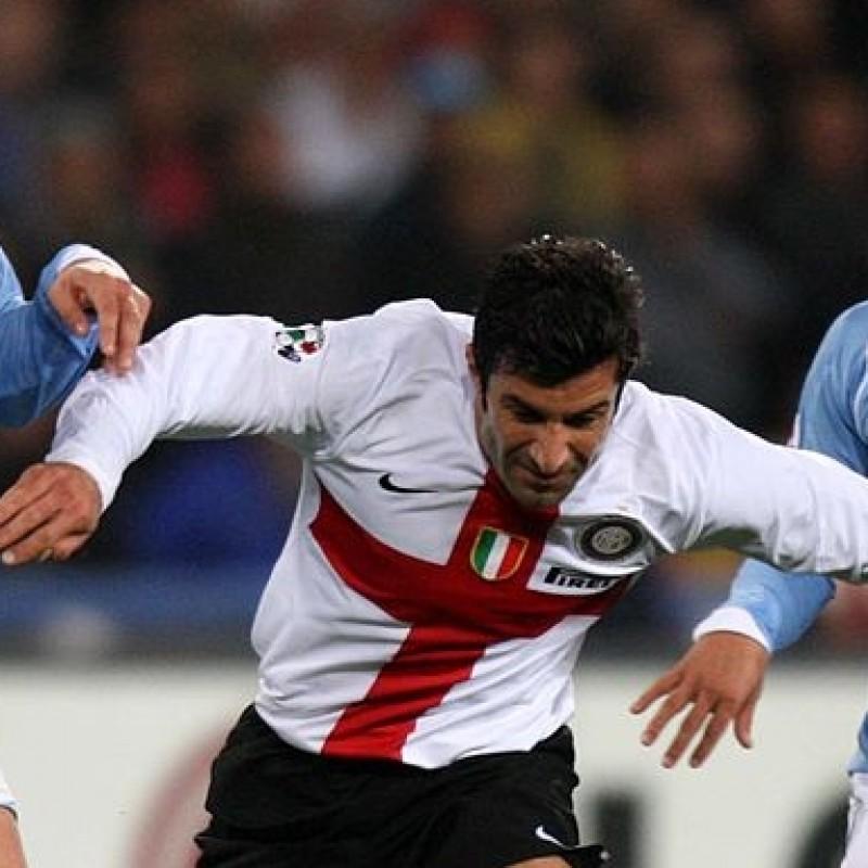 Official Inter Centennial Shirt Signed by Figo and the Team