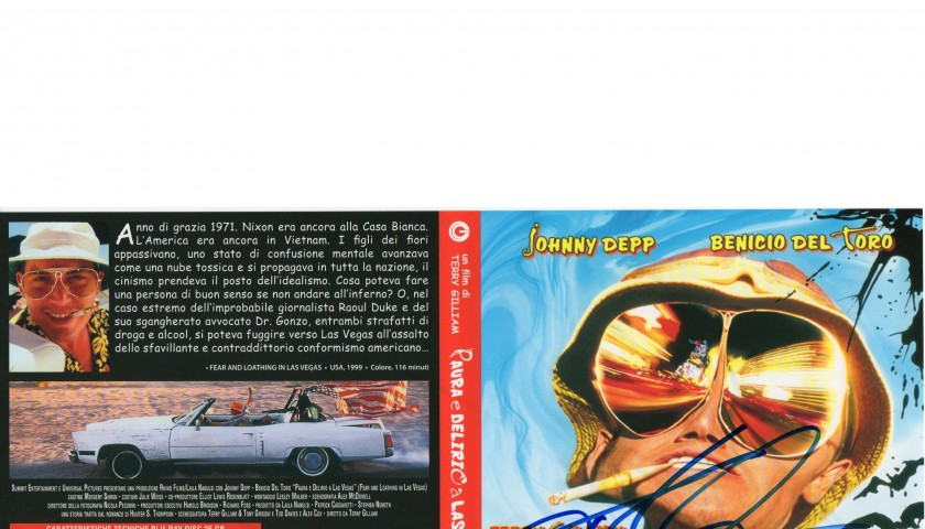 """""""Fear and Loathing in Las Vegas"""" Blu-ray signed by the director Terry Gilliam"""