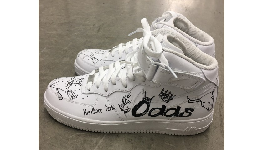Squirrel Terki x Odds Concept Custom Sneakers by Maggi Gad