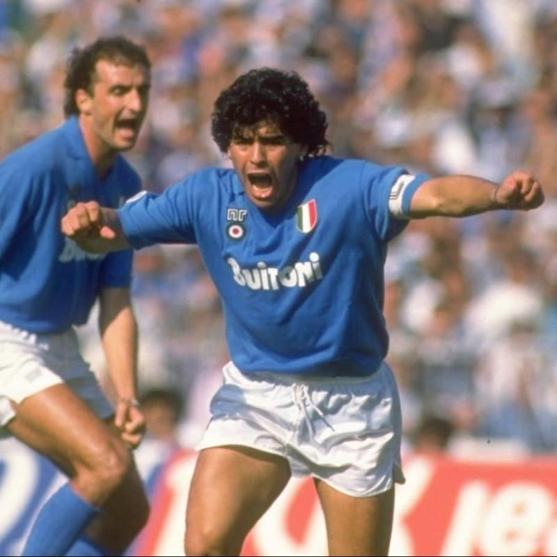 Maradona's Napoli Retro Signed Shirt